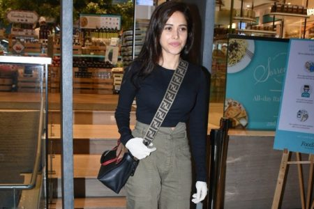Actress Nushrat Bharucha seen at Food Hall khar in Mumbai