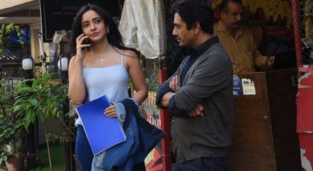 Mumbai: Actors Nawazuddin Siddiqui and Neha Sharma seen at Versova in Mumbai on March 16, 2020. (Photo: IANS)