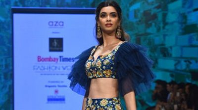 Mumbai: Actress Diana Penty walks the ramp for fashion label Aza on Day 3 of the Bombay Times Fashion Week, in Mumbai on March 15, 2020. (Photo: IANS)