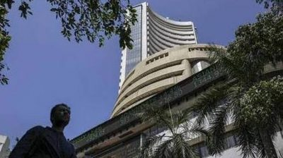Equity indices trim gains, Sensex up 80 points