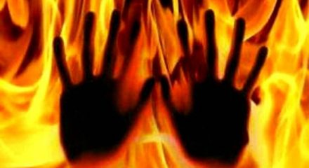 Woman dies after being set ablaze by son, daughter-in-law
