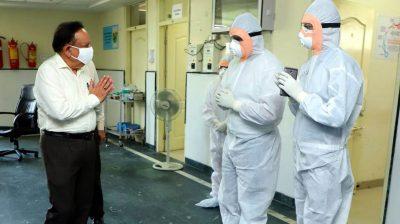 Harsh Vardhan visits Ayurveda hospital providing Covid care