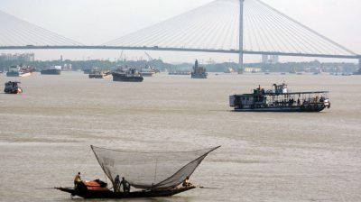 Kolkata: Fishermen go fishing on their boats at the Ganga river during nationwide lockdown 5 imposed in the wake of COVID 19 Coronavirus pandemic in Kolkata on June 26, 2020. (Photo: Kuntal Chakrabarty/IANS)