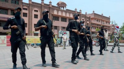 Amritsar: Security beefed up around the Golden Temple on the eve of the 36th anniversary of Operation Blue Star, in Amritsar on June 5, 2020. (Photo: IANS)