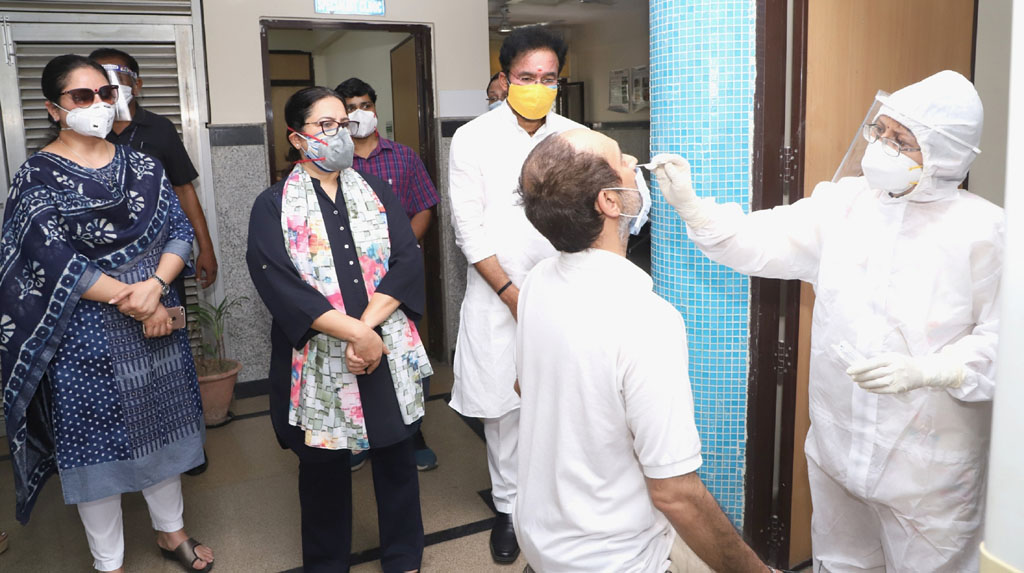 New Delhi: Union MoS Home Affairs G. Kishan Reddy during his inspection visit to a COVID-19 Testing Centre, in New Delhi on June 18, 2020. (Photo: IANS/PIB)