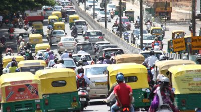 Bengaluru: Bengaluru's Sri Vatal Nagaraj Road witnesses masive traffic jam on the first day of the fifth phase of the nationwide lockdown imposed to mitigate the spread of coronavirus, on June 1, 2020. (Photo: IANS)