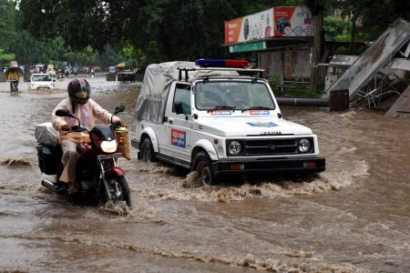 Heavy rains leave Patna streets inundated