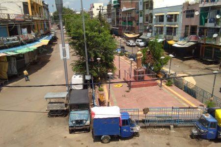 Entire Lockdown was put up in Mangalwara of Bhopal