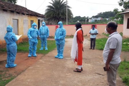 Kandhamal collector of Odisha visited containment zone