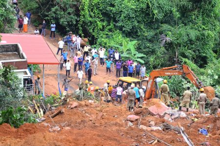 Rescue operation underway after a landslide occurred near Mangaluru