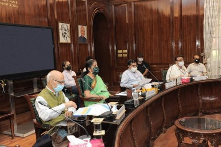 Finance minister's review meeting on central public sector enterprises