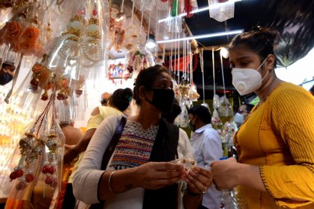 Women busy shopping ahead of Raksha Bandhan celebrations