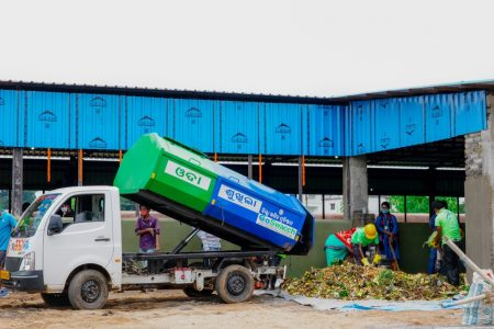 Solid waste management through Micro composting centre in Odisha