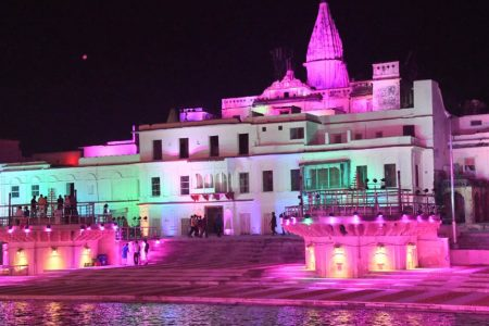 The entire Ayodhya city has been illuminated with lakhs of 'diyas' to mark the 'bhoomi pujan' for the proposed Ram temple
