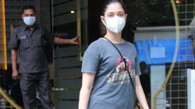 Mumbai: Actress Tamanna Bhatia seen at a Bandra salon in Mumbai on Sep 15, 2020. (Photo: IANS)