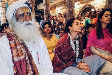 Kangana posts pic from Kashi Vishvanath trip