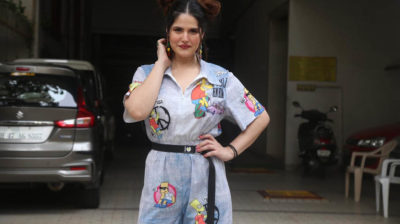 Mumbai: Actress Zareen Khan seen at Bandra in Mumbai on Oct 20, 2020. (Photo: IANS)