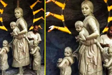 Kolkata Ma Durga idol as migrant worker impresses B'wood stars, fans