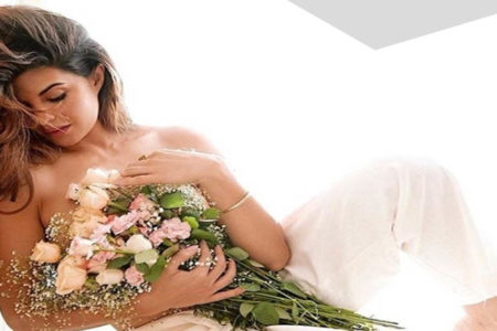 Jacqueline poses topless to thank fans on garnering 46mn Insta followers