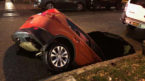 Sinkhole in NYC swallows SUV
