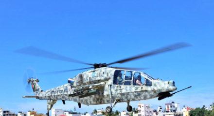IAF chief Bhadauria flies Light Combat Helicopter over Bengaluru