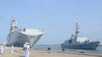 French Naval ships on a two day good will visit to Kochi