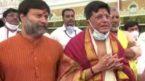 Piyush Goyal offers prayers at Lord Balaji Temple at Tirumala in Andhra Pradesh